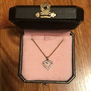 Juicy Couture gold plated recycle heart necklace